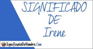 Significado de Irene